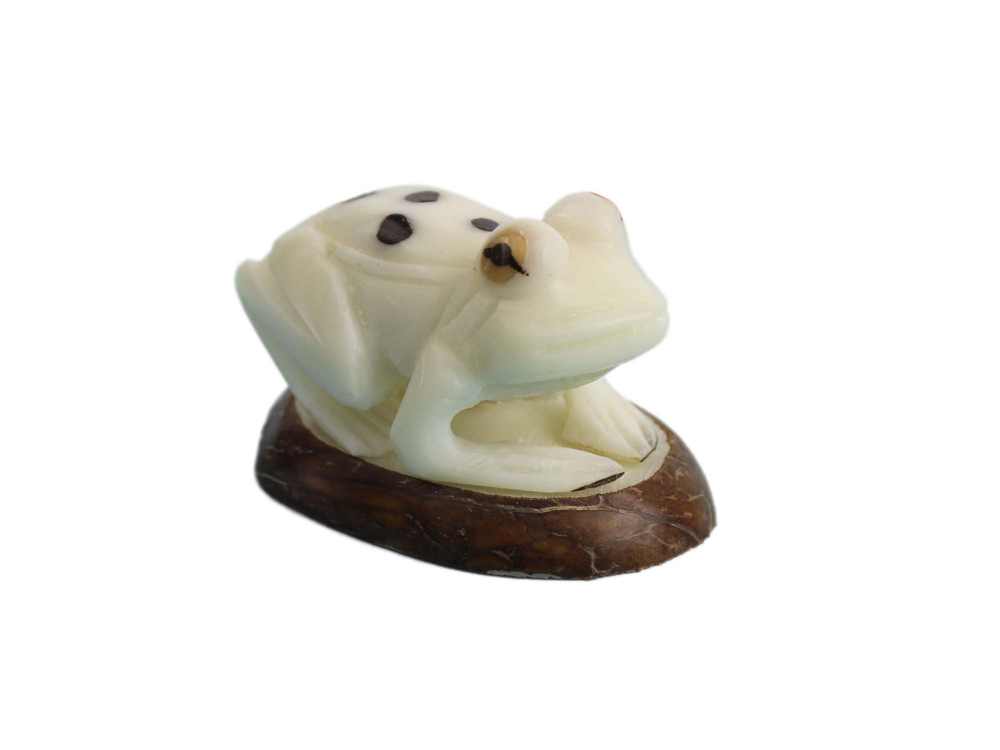 Tagua Nut Carving: Frog #2