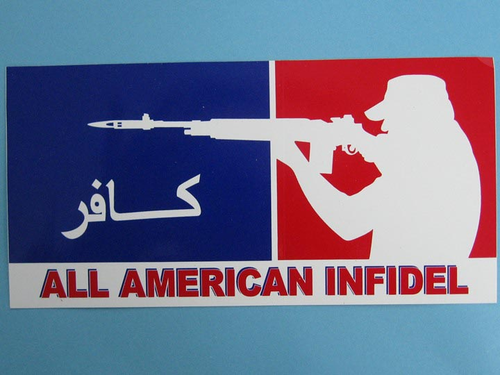 All American Infidel Bumper Sticker