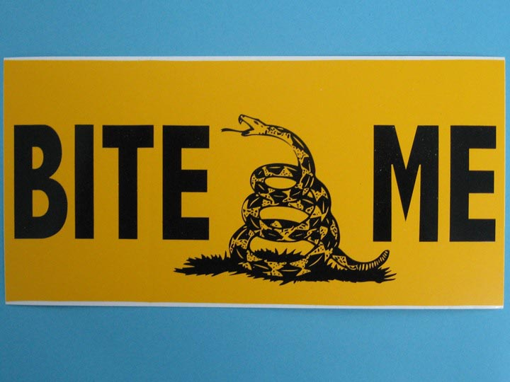 Bite Me Bumper Sticker
