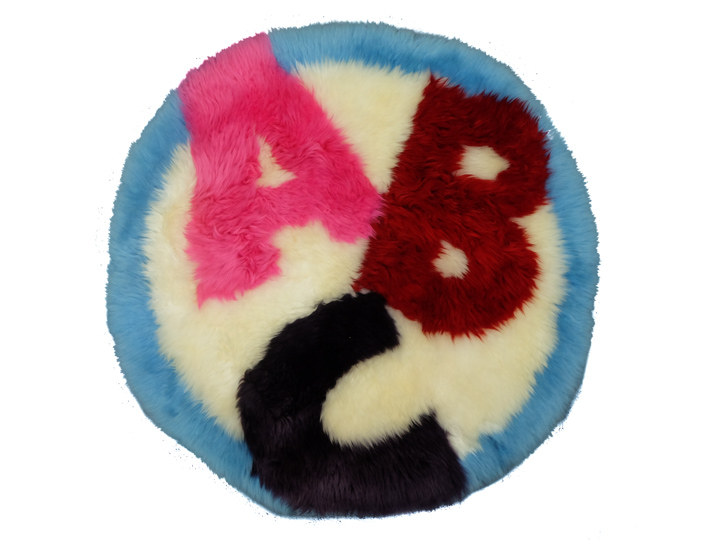Designer Sheepskin Rug: ABC
