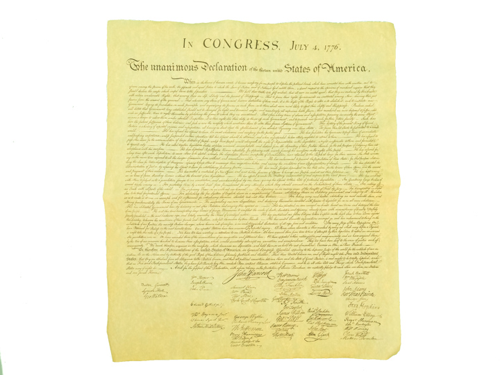 Declaration of Independence 1776 Parchment