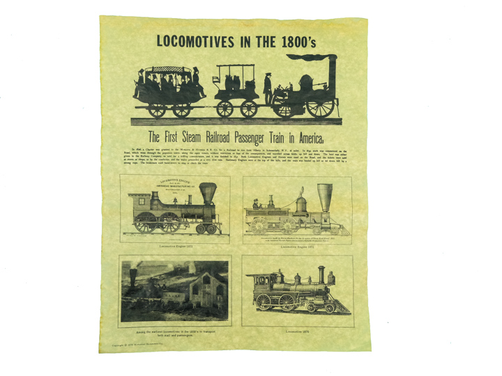 Locomotives in the 1800s Parchment