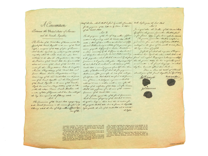 Louisiana Purchase 1803 Parchment