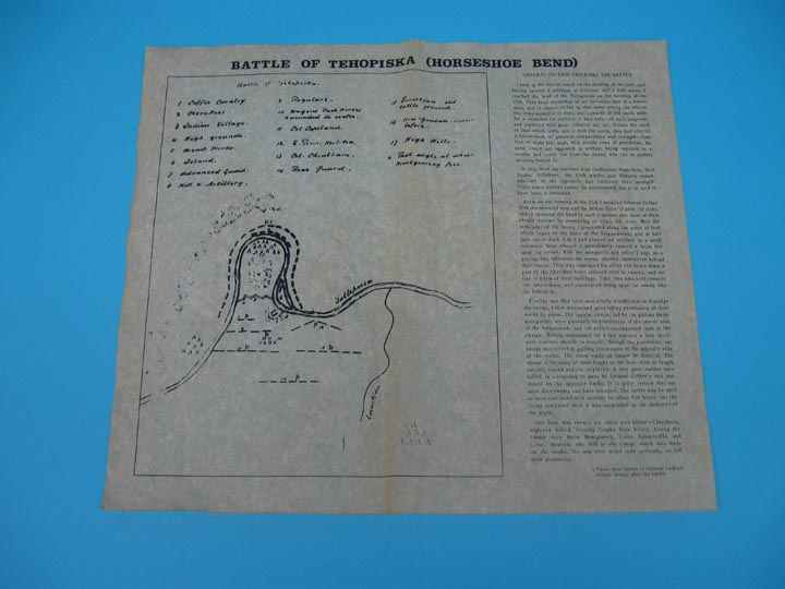 Battle of Tehopiska (Horseshoe Bend 1814) Parchment