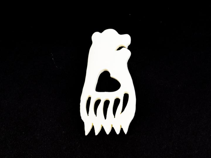 Bear/Bear Paw Bone Pendant: Medium
