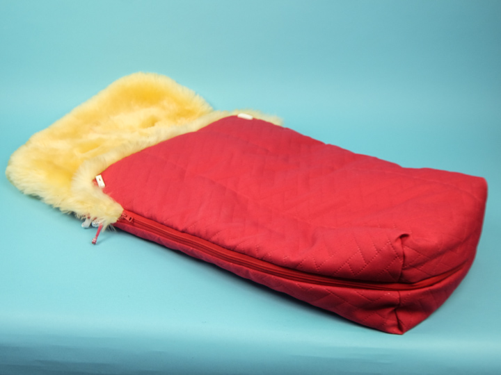 Medical Sheepskin Baby Bag: Red