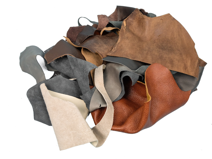 Cow Upholstery Leather Scrap: Assorted (lb)
