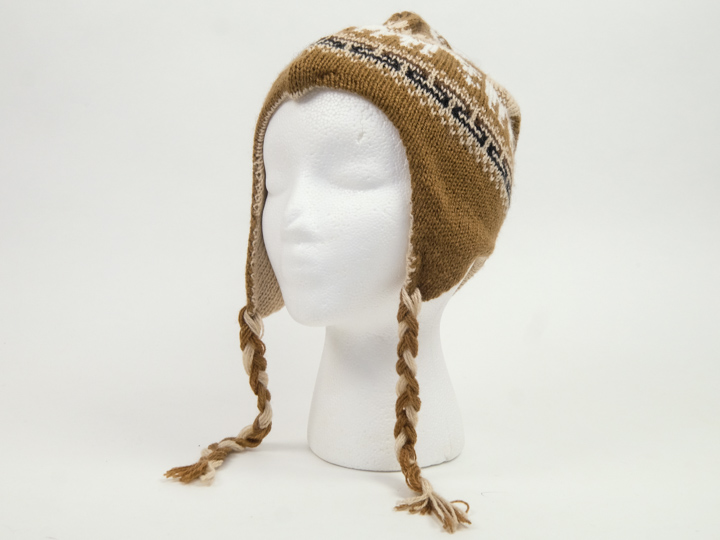Alpaca Hat: Adult: Double Sided: Subdued Colors: Assorted