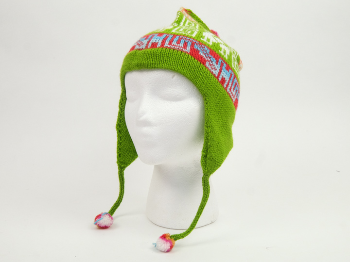 Alpaca Hat: Adult: Single Sided: Bright Colors: Assorted