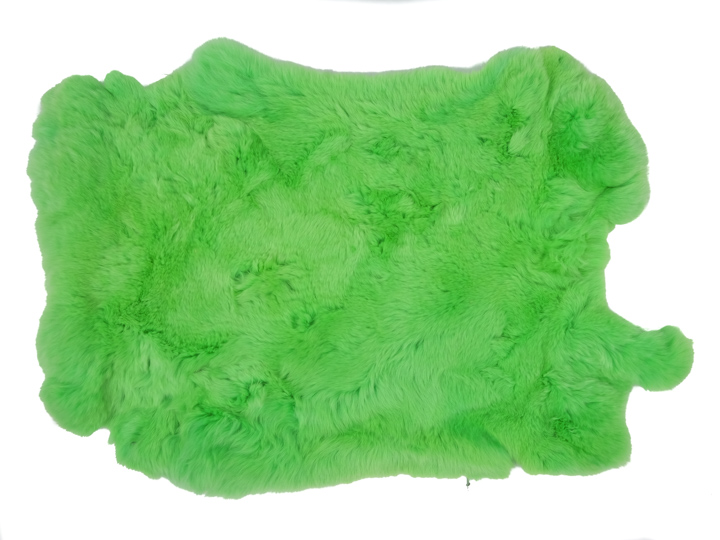 #1 Rex Rabbit: Dyed Green: Size B
