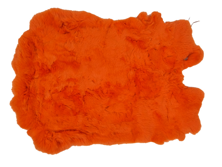 #1 Rex Rabbit: Dyed Orange: Size B