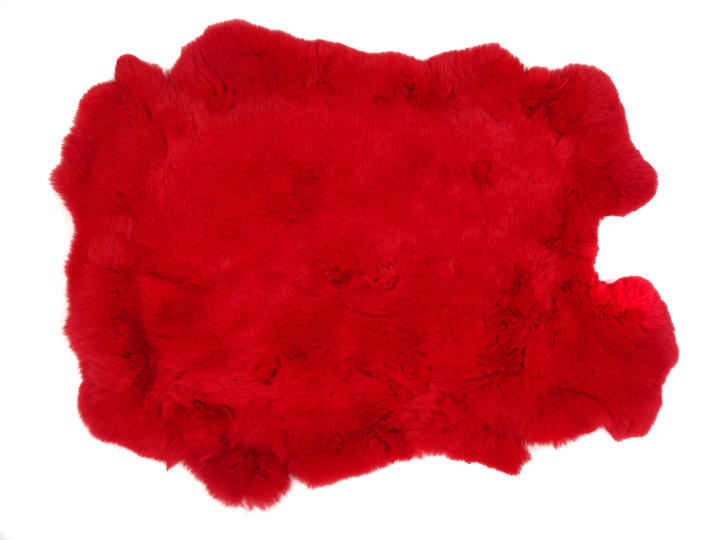 #1 Rex Rabbit: Dyed Red: Size B