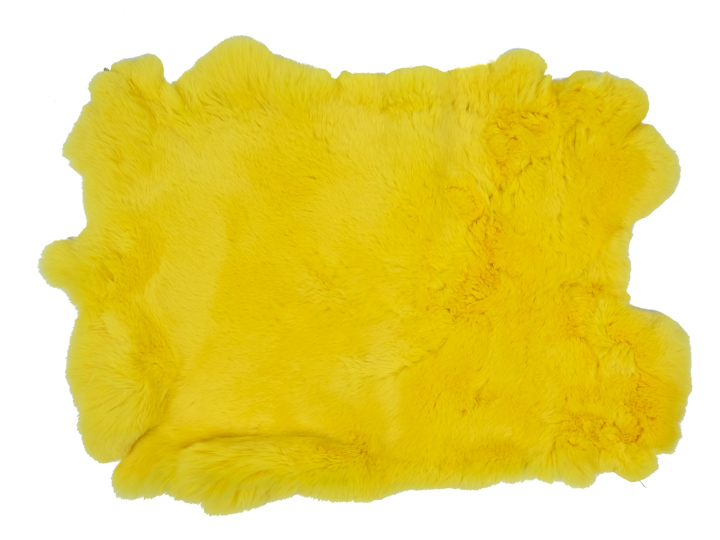 #1 Rex Rabbit: Dyed Yellow: Size B