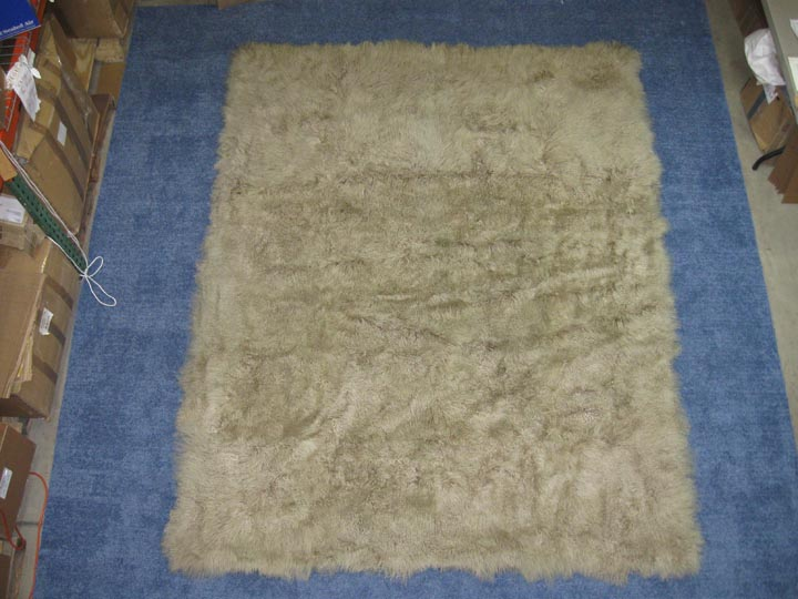 Dyed Tibet Lamb Rug: ~8x10 ft: Ashy Blond