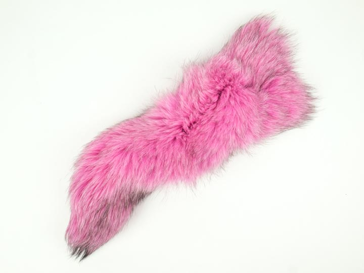 Dyed Fox Tail: Hot Pink