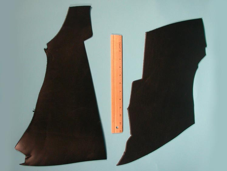 Latigo Leather Scrap: Black (lb)