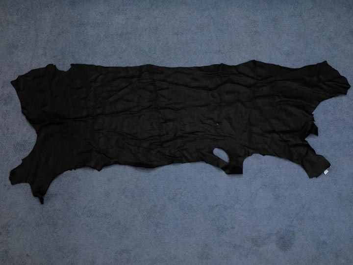 3-3.5 oz Tannery Run Buffalo Leather: Black (sq ft)