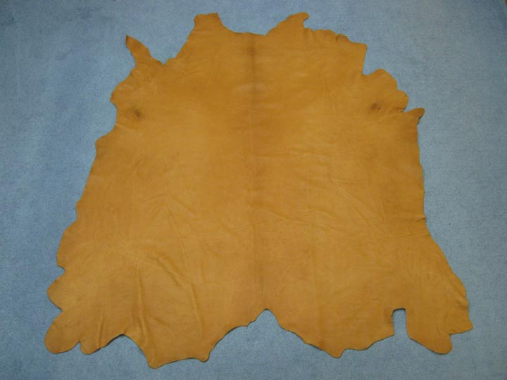 4-5 oz Buffalo Leather: Tannery Run: Saddle Tan (sq ft)
