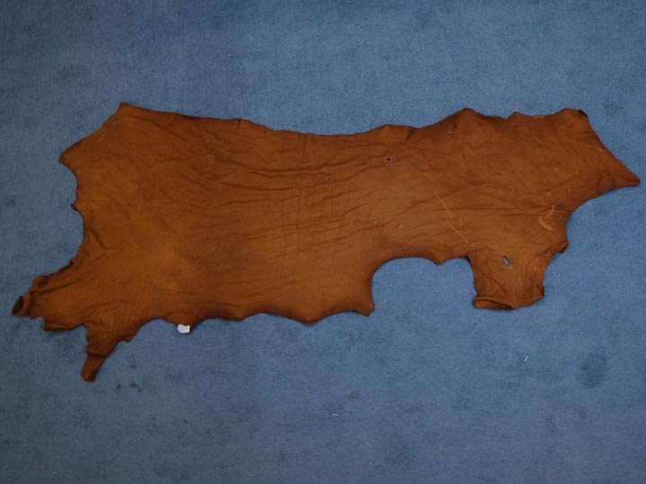 3-3.5 oz Tannery Run Buffalo Leather: Tobacco (sq ft)
