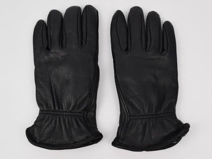 Black Ladies Deerskin Gloves
