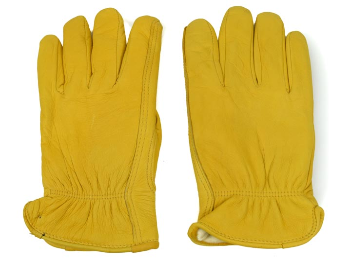 Tan Mens Deerskin Gloves