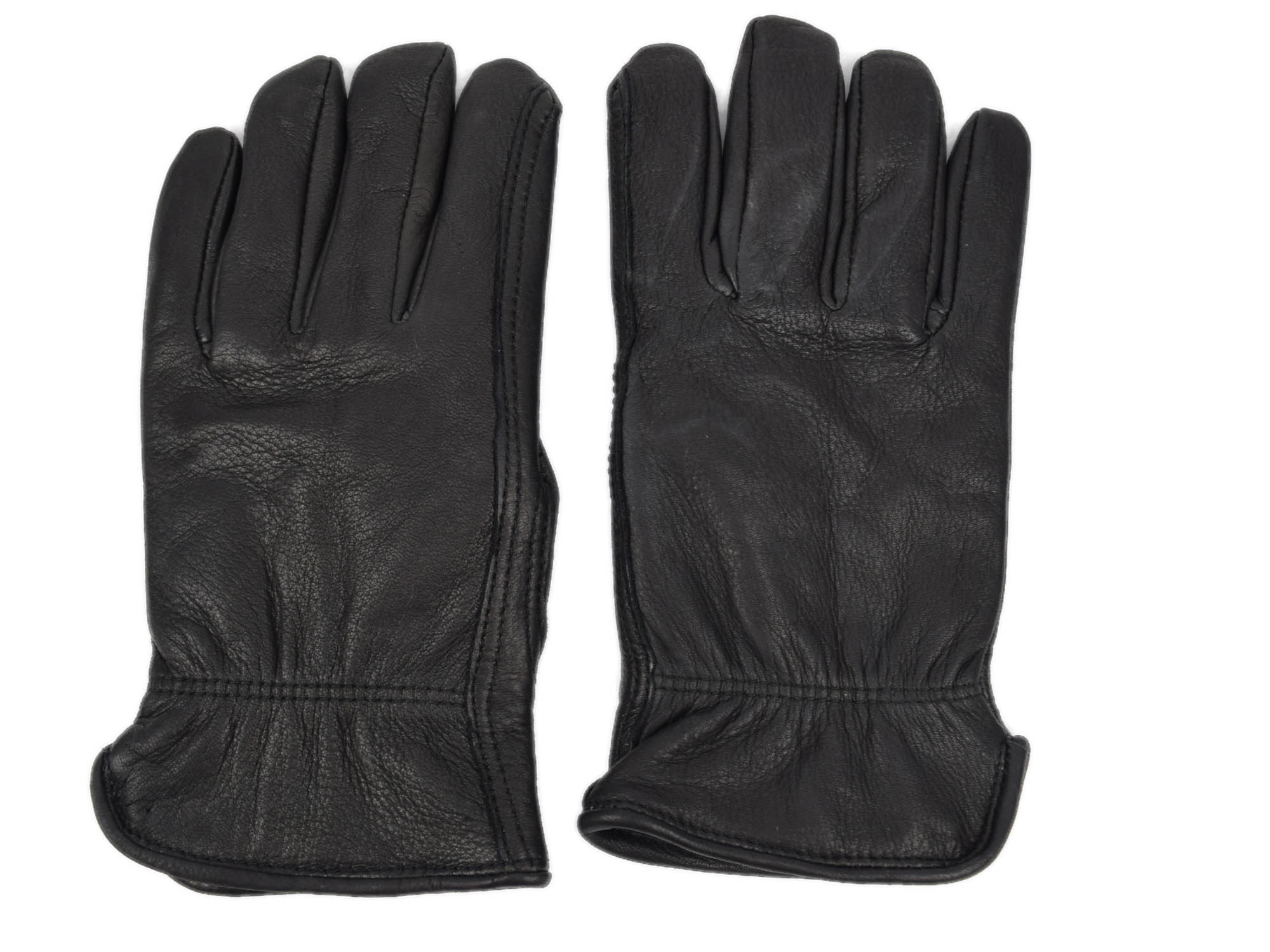 Black Mens Deerskin Gloves