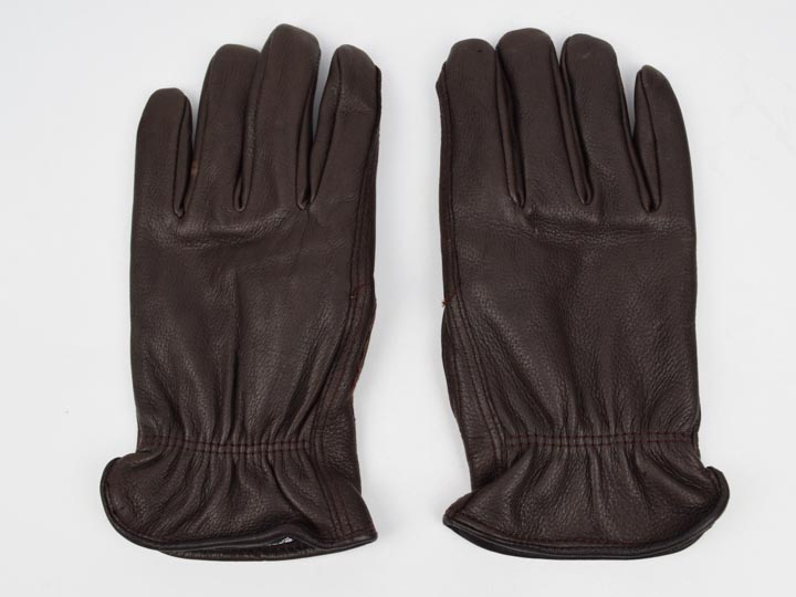 Brown Mens Deerskin Gloves