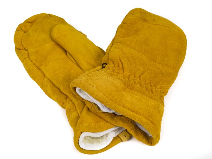 Suede Lined Tan Mitts (Men)