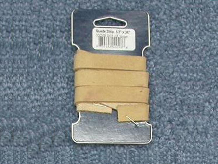 "Suede Strip: 1/2""x36"": Beige"