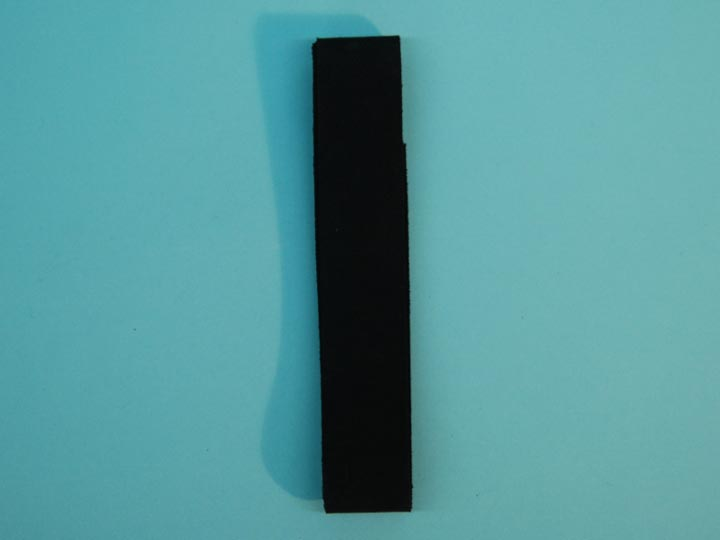 "Suede Strip: 1 1/2""x42"": Black"