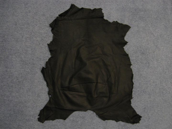 Goat Leather: Grade A/B: Black (sq ft)