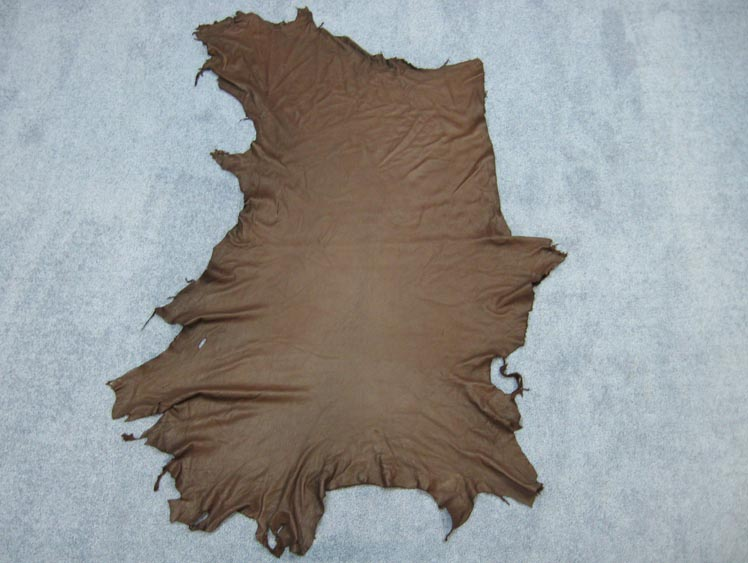 Deerskin Leather: #1/#2: Dark Brown (sq ft)