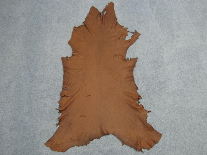 Deerskin Leather: #1/#2: Medium Brown (sq ft)