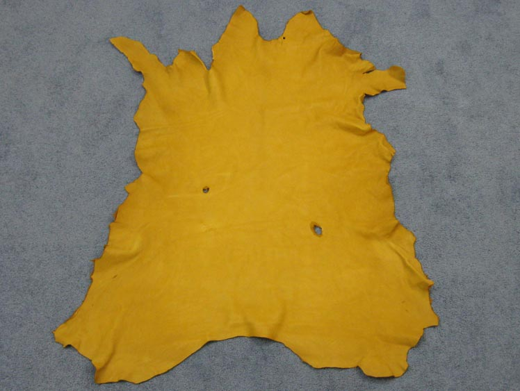 Deerskin Leather: #1/#2: Prairie Gold (sq ft)