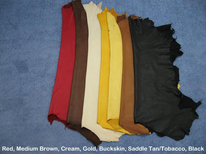 Garment Deerskin Leather: Red (sq ft)