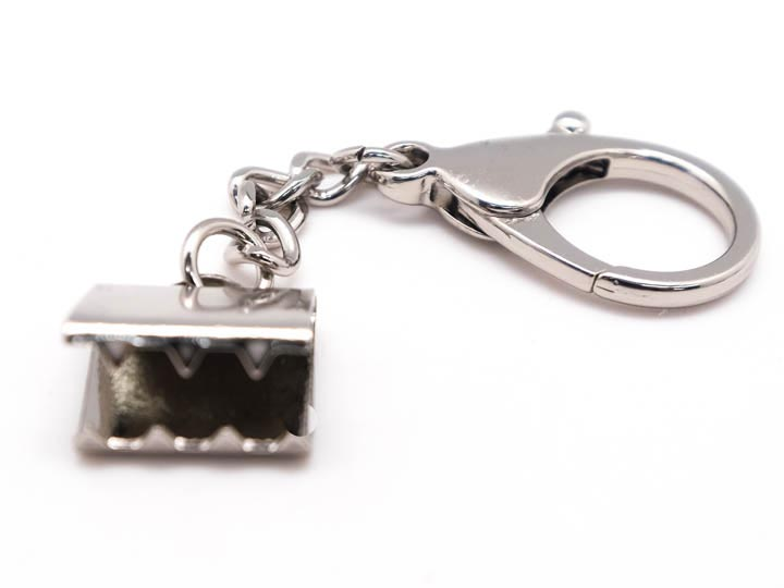 Silver Snapback Keychain: Large