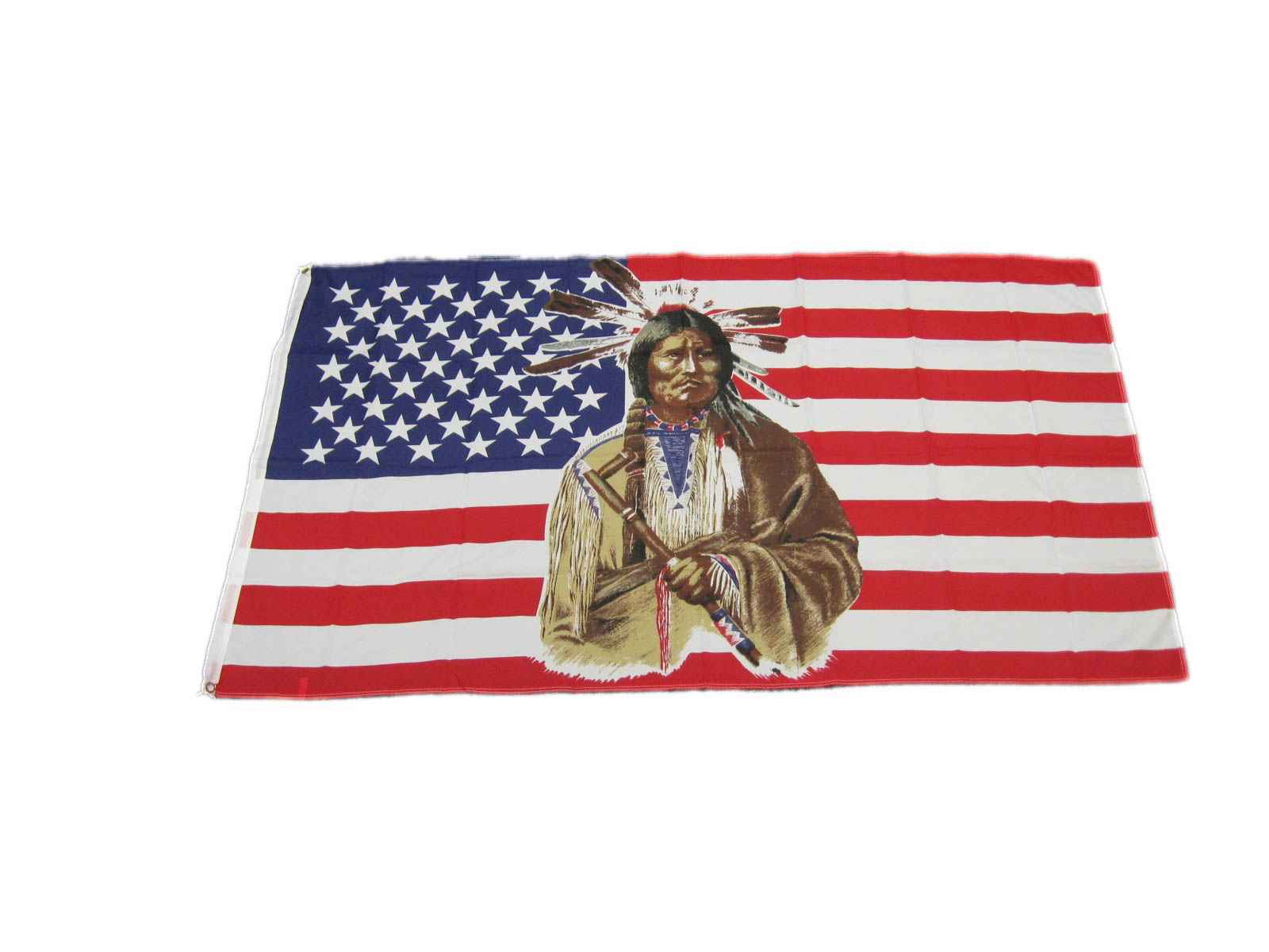 U.S. Flag with Indian