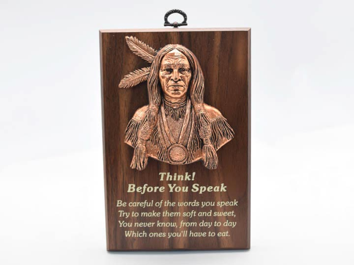 Wisdom Plaque: Think Before You Speak