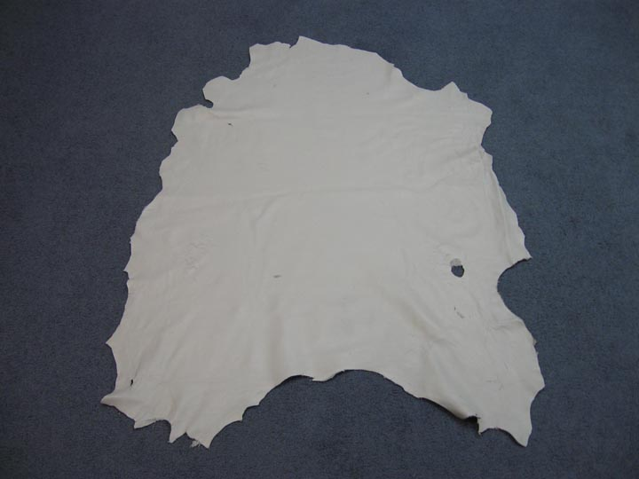3 - 4 oz Craft Grade Sheep Leather: White (sq ft)
