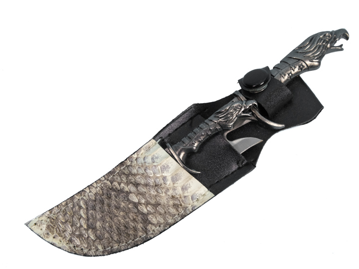 Mini Twin Falcon Knives with Rattlesnake Sheath