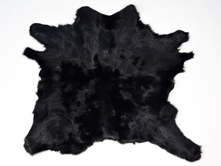 Calf Skin: Black Dyed