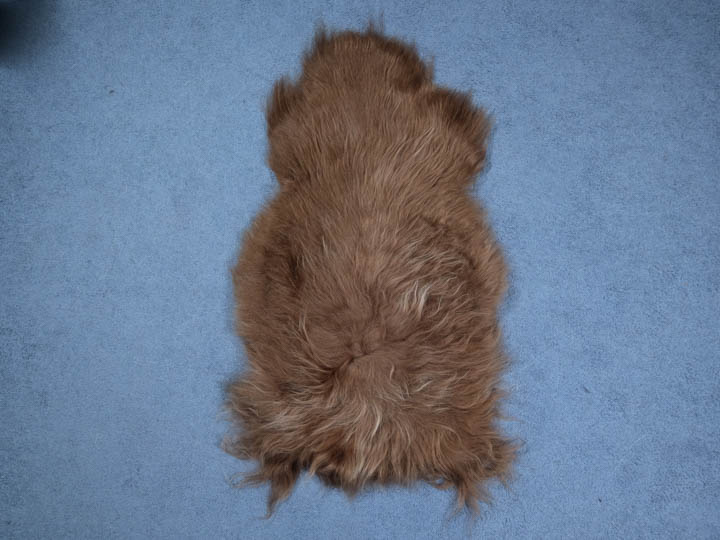 Dyed Icelandic Sheepskin: 110-120 cm: Nougat: Assorted