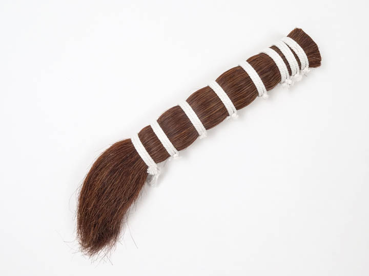 "Dark Red Single Drawn Horse Hair: 13-15"" (lb)"
