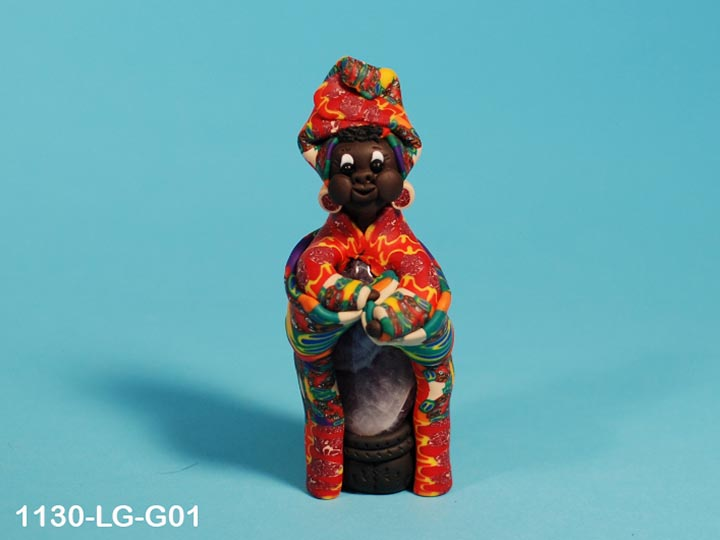 Fimo Clay Doll: Big Mamas: Gallery Item