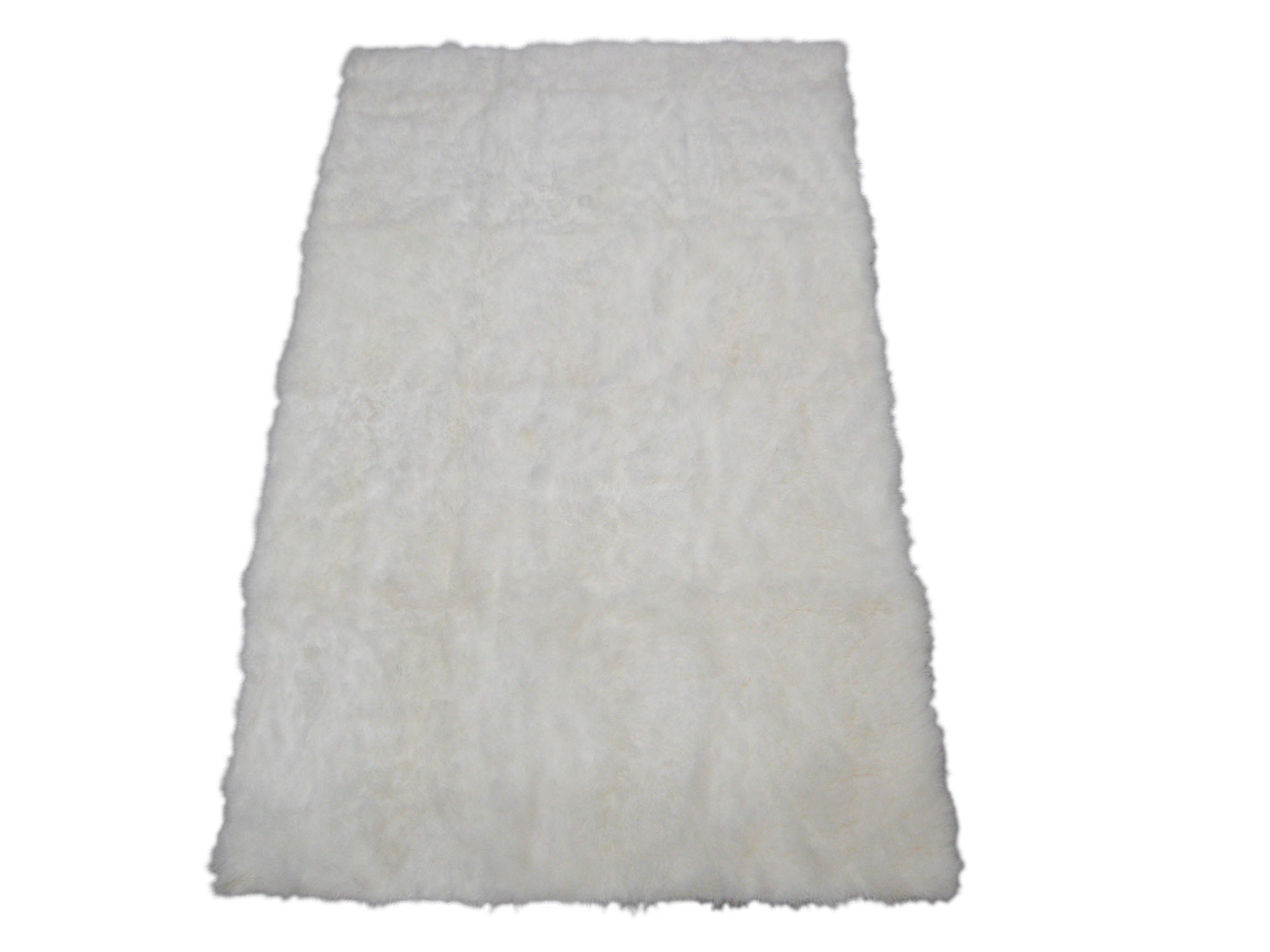 Cashmere Goat Rug: Natural White (Brightened): Gallery Item