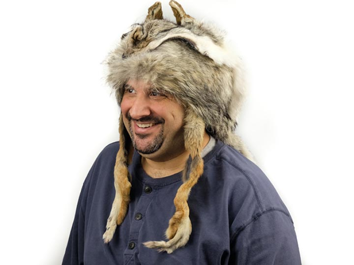Mountain Man Coyote Hat: Gallery Item