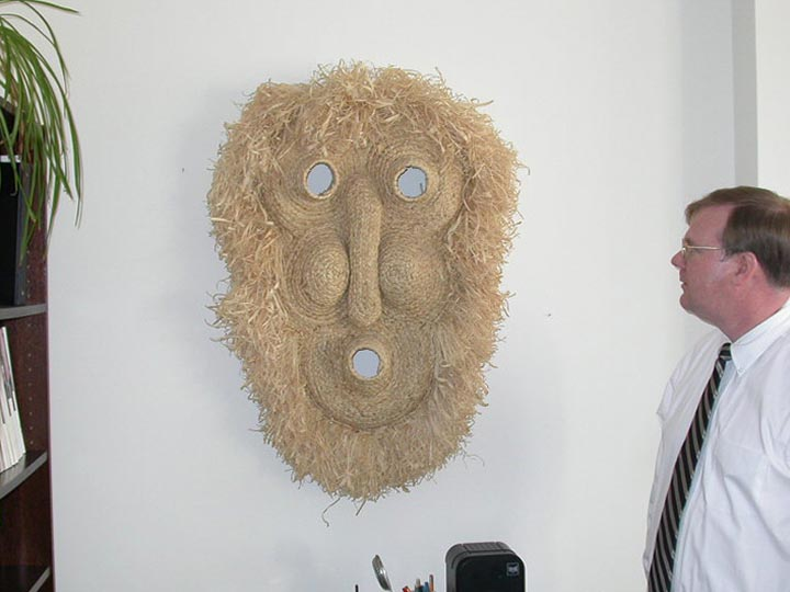 Extra Large Corn Husk Mask: Gallery Item
