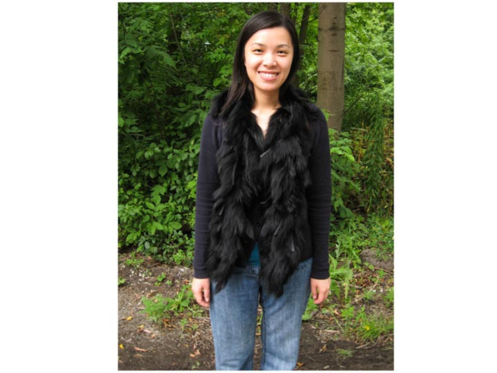Black Dyed Fox Boa: Gallery Item