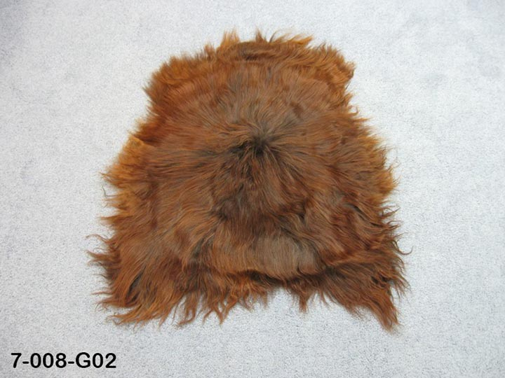 Dyed Icelandic Sheepskin: 90-100 cm: Black & Rusty: Gallery Item