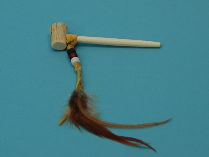 Iroquois Small Antler Pipe